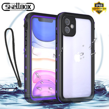 Shellbox Waterproof Phone Case for iPhone 11 Pro Max Shockproof Dustproof Underwater Swimming Cover for XR XS Max Phone Coque