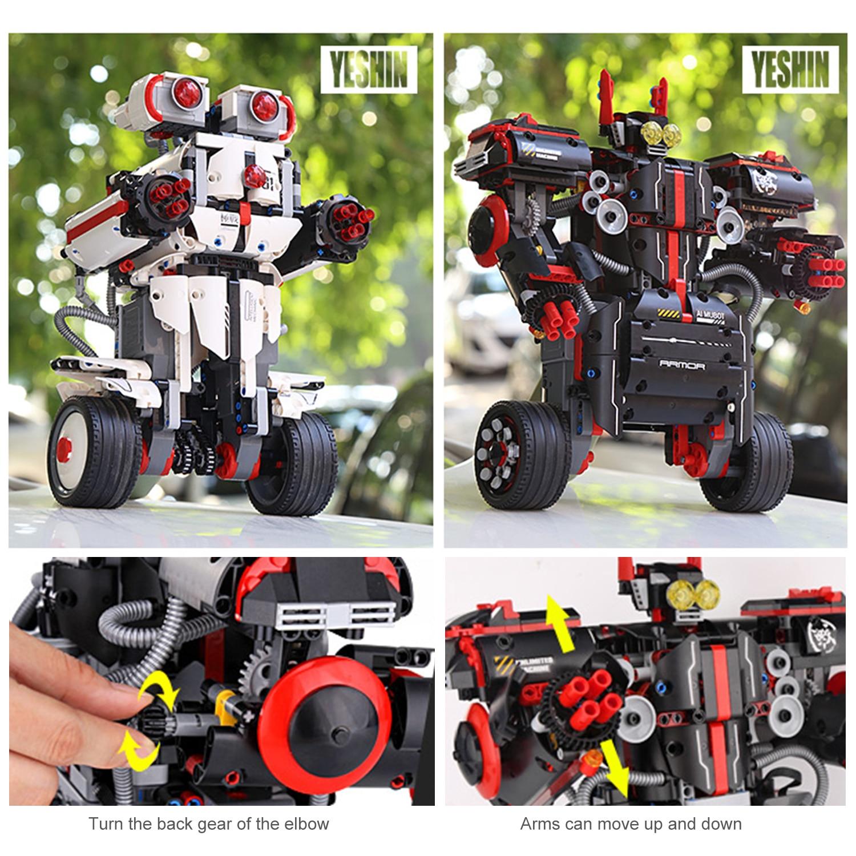 RC Roboter RC Pädagogisches Bausteine 2,4G 806PCS DIY Montage Ausgewogene Programmierung RoboRemote Control APP Steuerung für Kinder - 6