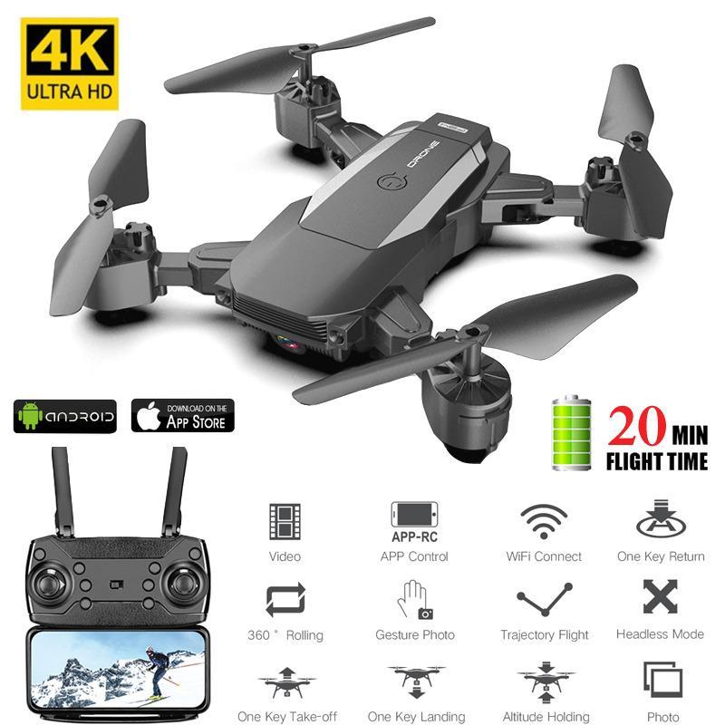 2020 nowy F84 RC Drone 4k 1080P kamera hd Wifi Fpv helikopter składany quadcopter dziecko helikopter zdalnego sterowania zabawki Vs E520 E58