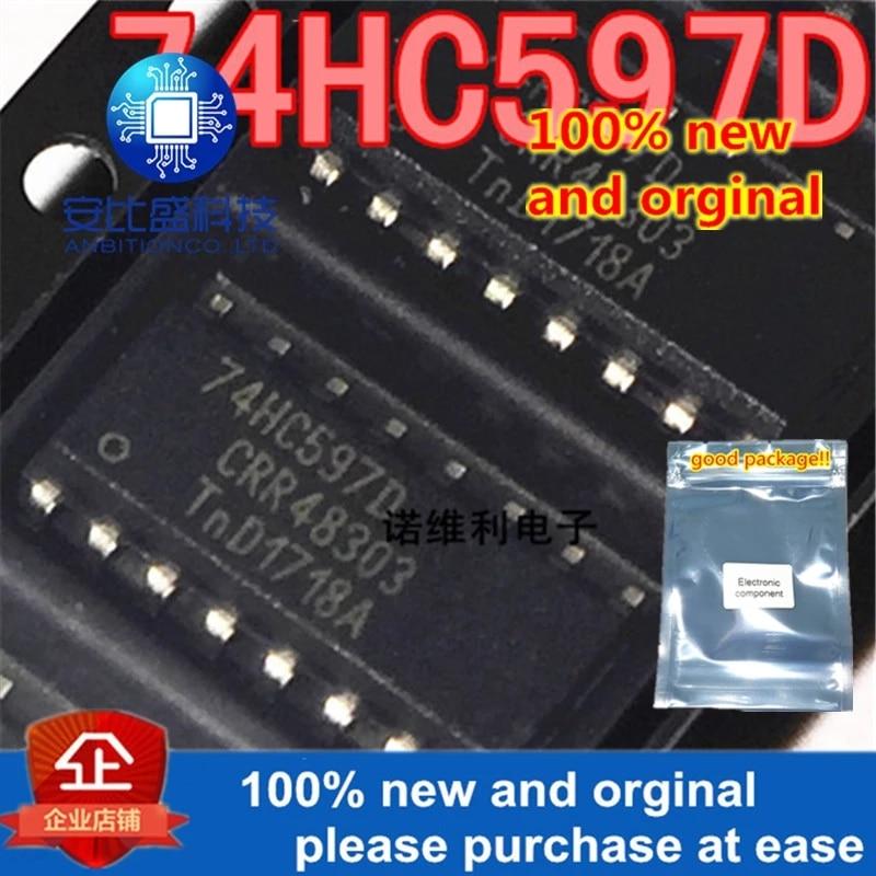 10pcs 100% New And Orginal 74HC597D 74HC597 SOP-16 In Stock