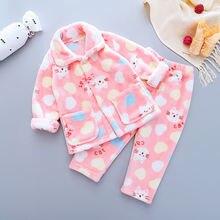 Детский зимний комплект одежды для новорожденных мультяшный
