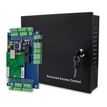 OBO Hands Panel de Control de acceso TCP/IP con DC12V 5A, convertidor de fuente de alimentación de Metal, caja para sistema de entrada de 1/2/4 puerta y oficina