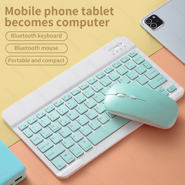"""For iPad 7th generation 10.2 9.7""""Bluetooth keyboard Pro 11 Air 3 Pro 10.5 Air 2  with mouse For samsung Android Tablet 아이패드 키보드"""