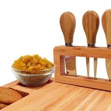 Plateau à fromage en bambou 35.5x28x1.5cm, plateau alimentaire, vaisselle en bois, fromage fruits, plateau organisateur, ensemble fromage maison B9X7