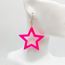 New Design Personalized Elegant Shiny Colorful Resin Acrylic Star Drop Earring For Women Gift Jewelry Accessories For Women 2019 new jewelry fashion wolf cute cat design party hook earring colorful round drop earrings accessories for women pretty gift