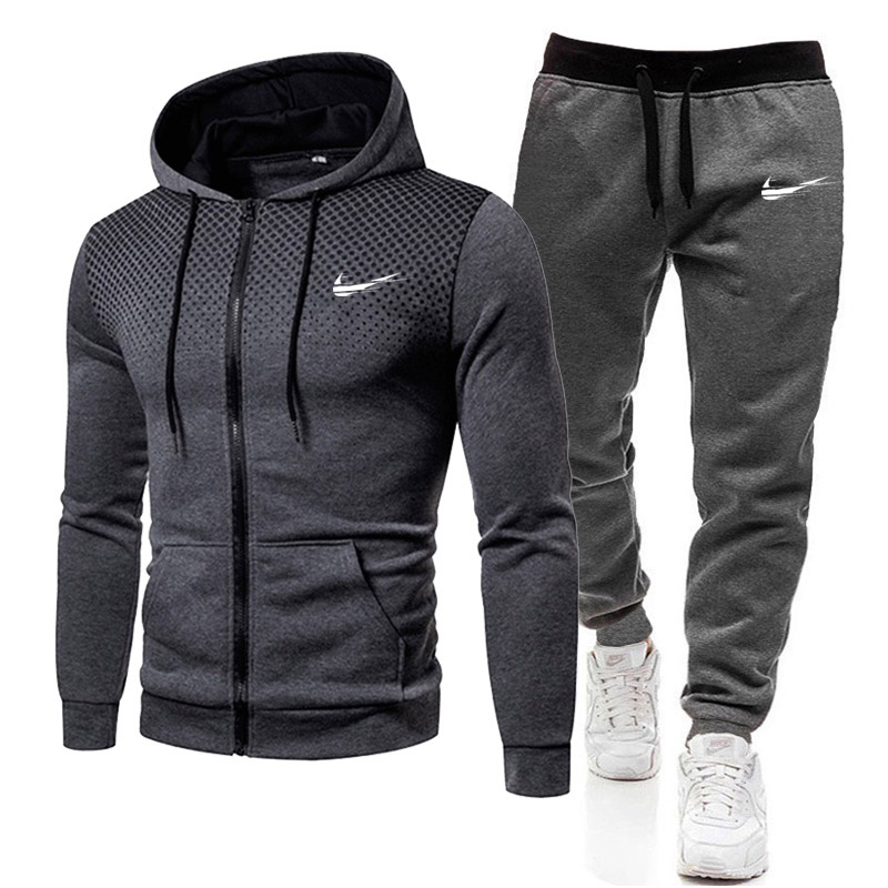 New Brand Men Clothing Sets Casual Tracksuit 2 Piece Sets Hoodies+Pants Men's Sweater Set Sports Suit Streetswear Jackets S-3XL
