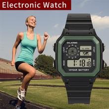 цена на 2019 New Men Waterproof Wrist Watch Luxury Fashion High-End Multi-Function Military 30M Sports LED Waterproof Electronic Watch Q