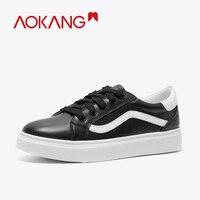 AOKANG Women Shoes 2019 New Chunky Sneakers For Women Vulcanize Shoes Casual Fashion Casual walking Shoes Sneakers Basket Femme