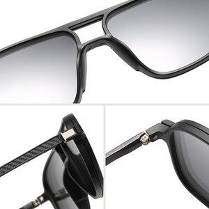 Image 5 - Opticalคลิปแม่เหล็กบนกรอบแว่นตาผู้ชายClear Prescriptionสายตาสั้นกรอบแว่นตาPolarizedแม่เหล็กคลิปแว่นตากันแดดผู้ชายยี่ห้อ