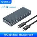 ORICO Thunderbolt 3 40 Гбит/с NVME M.2 корпус SSD 2 ТБ Алюминиевый USB C с 40 Гбит/с Thunderbolt 3 C к C кабель для ноутбука