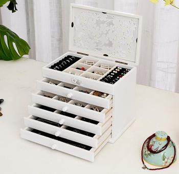 Solid wood wooden box makeup Storage Boxes jewerly box organizer retro style large multilayer marriage