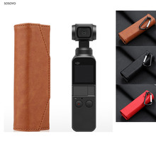 Portable Storage Bag Leather Protective Case handbag With Hanging buckle For DJI OSMO Pocket Action Camera Accessories 3 Colors