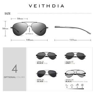 Image 3 - VEITHDIA lunettes de soleil photochromiques pour hommes accessoires lunettes, en aluminium magnésium, lentille UV400 polarisée, 6699