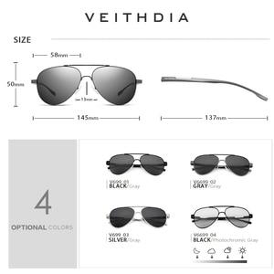 Image 3 - Veithdia óculos de sol masculino polarizado, óculos de sol masculino fotocrômico, de alumínio e magnésio, polarizado uv400 6699
