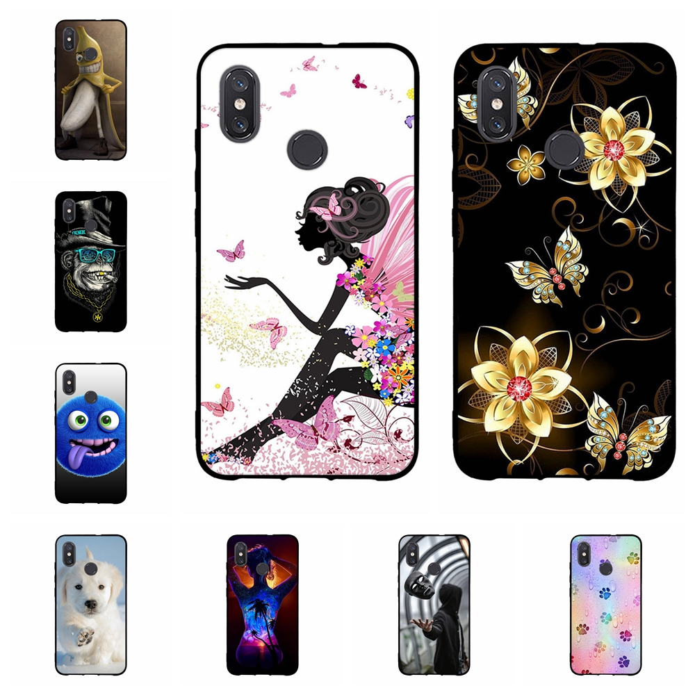 For Xiaomi Mi 8 Explorer Case Slim Soft TPU Silicone Cover Girl Pattern Funda Bag