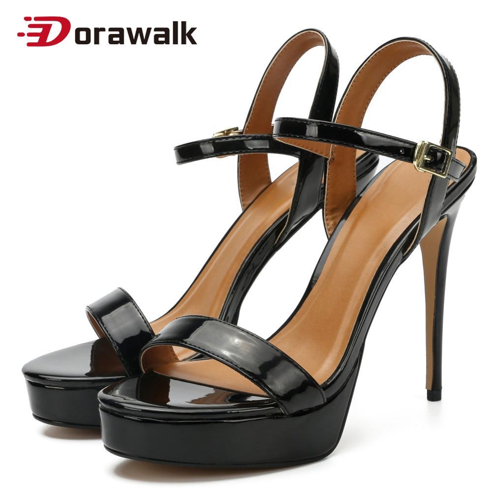 Verão feminino sexy saltos altos 14cm sandálias tornozelo cinta festa fetiche sm cross dresser gay drag queen sapatos unissex mais tamanho 39-50