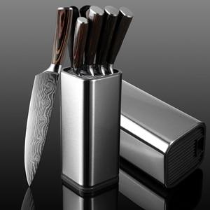 Image 1 - XITUO מטבח שף סט סכין נירוסטה סכין בעל Santoku שירות לחתוך קליבר לחם קילוף סכיני מספריים בישול כלים