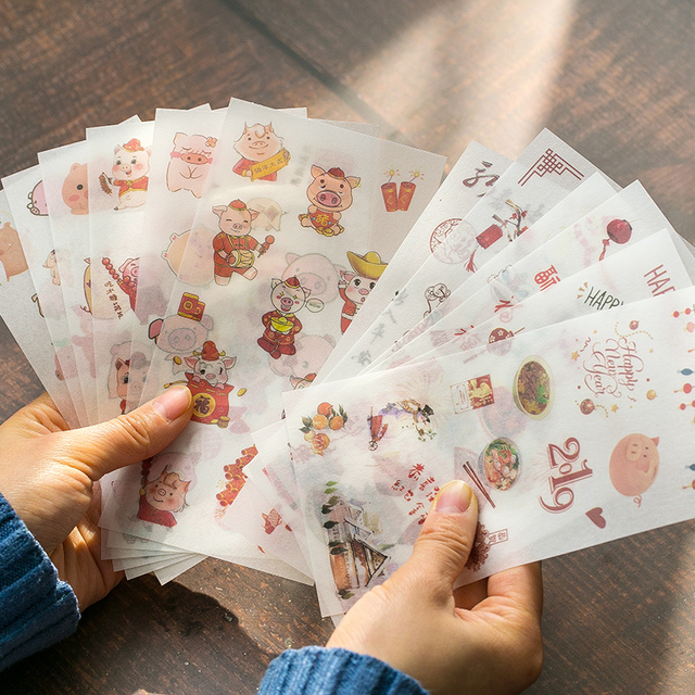 6pcs/pack Cartoon Cute Stickers Stationery Stickers for Decoration DIY Album Diary Planner Bullet Journal Stickers 2