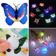 1pcs Lovely Butterfly LED Night Light Color Changing Light Lamp Beautiful Home Decorative Wall Nightlights Girls Kids Gifts(China)