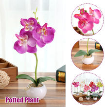 Garden Wedding Decoration Moth Orchid Plastic Fake Plant Artificial Flower Simulation Flower Beautiful Handmade Household Gift(China)