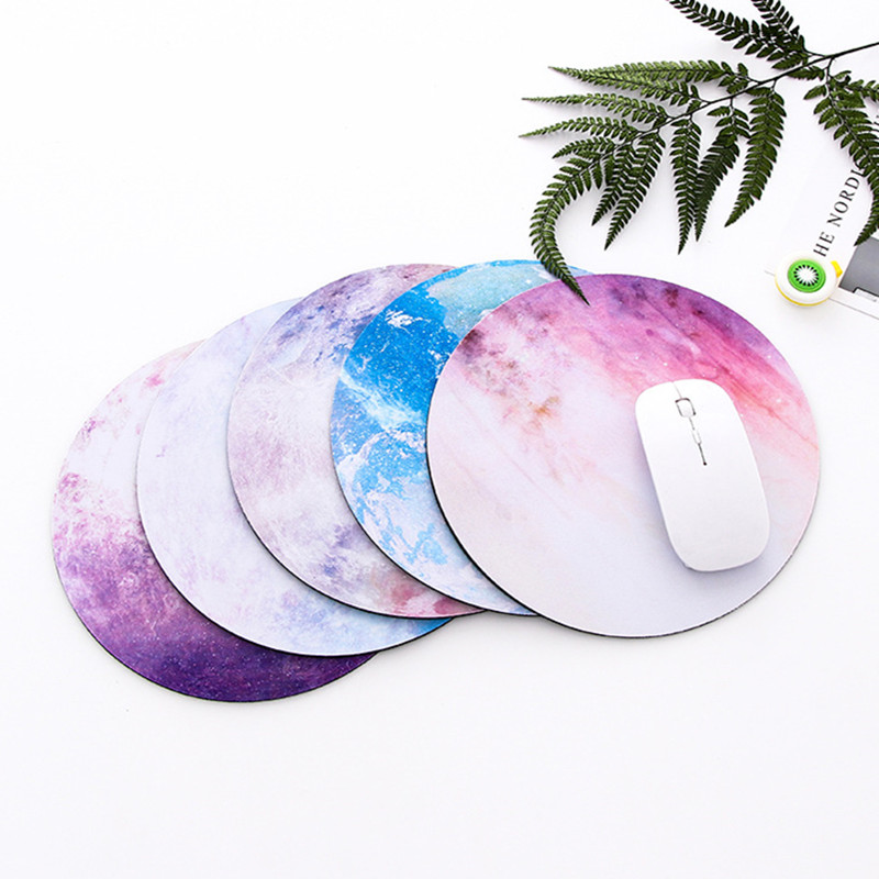 Round Mouse Pad Planet Series Mat Desk Set Earth/Venus/Mars/Jupiter/Pluto/Moon Computer Peripherals Accessory Office Supplies