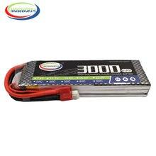 Batterie LiPo 3S RC 11.1V 3000mAh 30C Burst 60C pour Drone, avion, voiture, réservoir FVP, camion, Batteries rechargeables