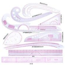Juego de reglas curvadas francesas de costura, conjunto de herramientas para manualidades, tomar medidas, confección, sastre, plantilla de dibujo, 9 unidades
