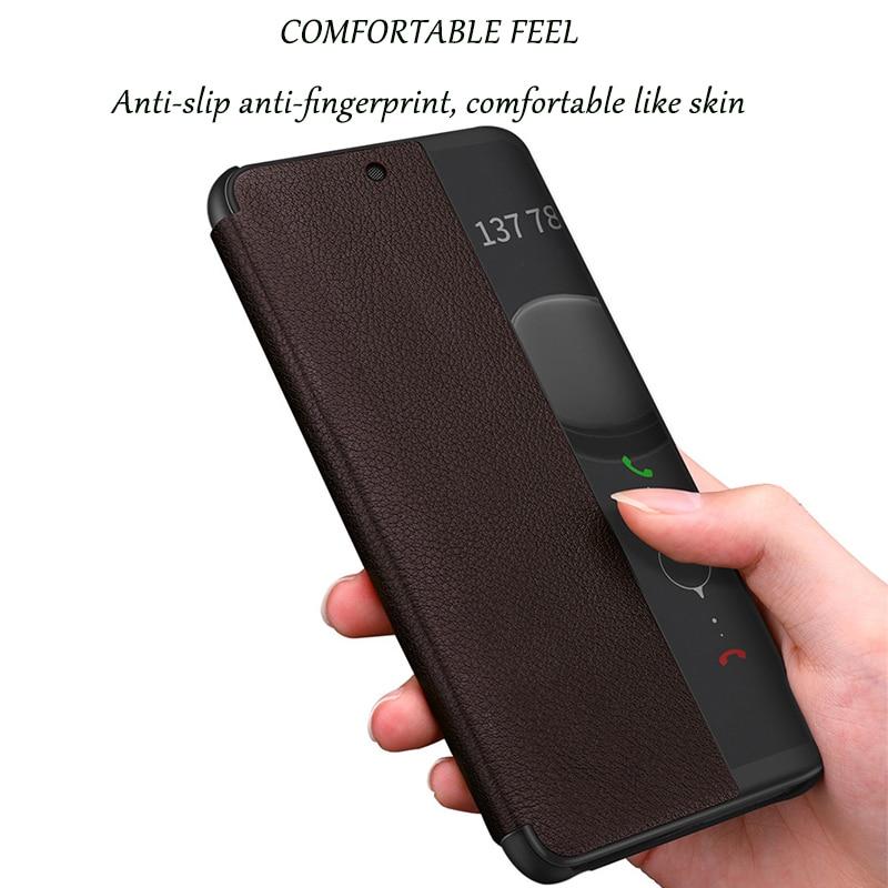 Coque P20Pro P10Plus Case Smart View Window Couples Simple Fashion Leather Flip Case For Huawei P20 Mate 10 20 Pro Lite Cover