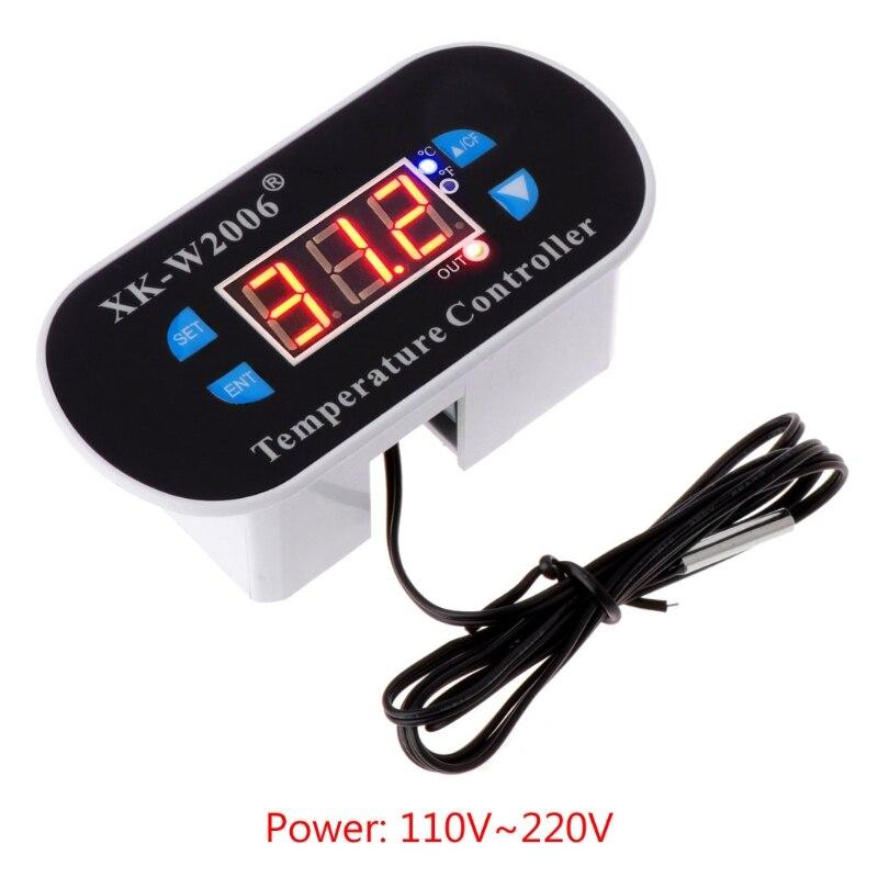 AC 110V-220V C/F Digital Thermostat Temperature Alarm Controller Sensor W1308
