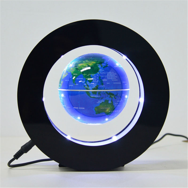 LED Magnetic Floating Globe Night Light Electronic Round Levitation World Map Table Lamp For Desk Bedroom Decoration Kids Gift