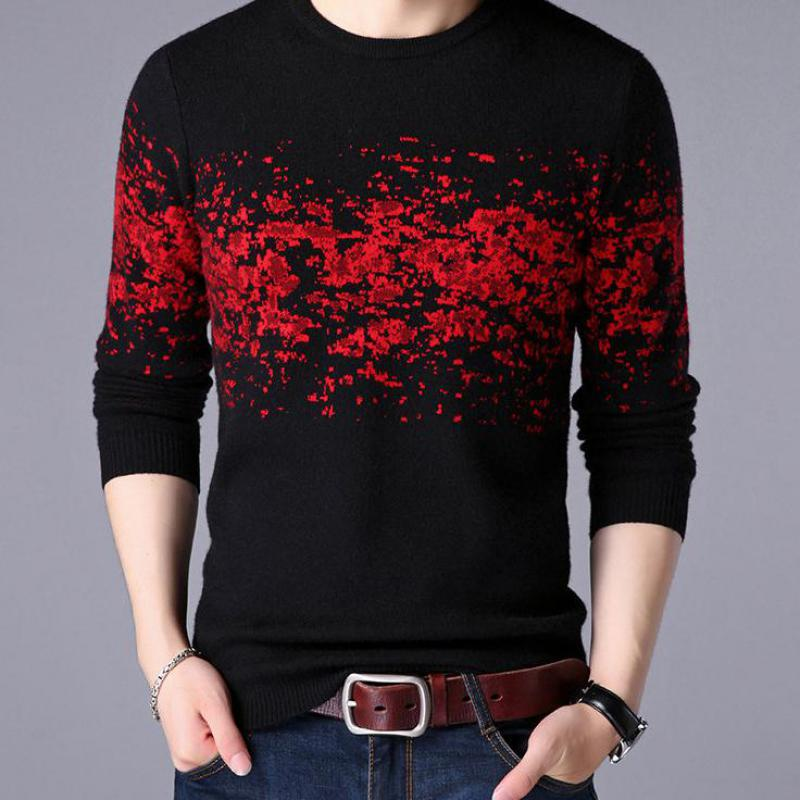 2019 Sweater Men Casual O-Neck Pullover Men Clothes Autumn Winter New Arrival Top Mens Cashmere Sweaters