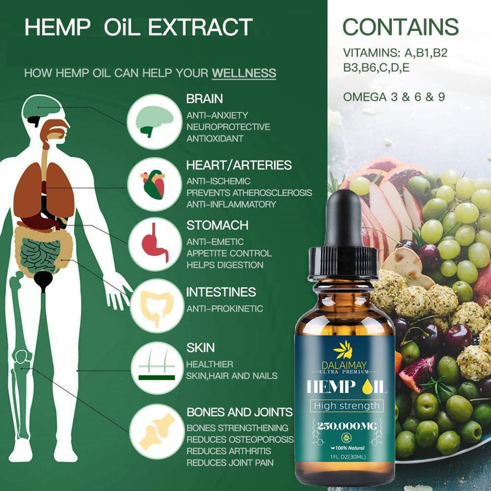 Natural Organic Hemp Seed Oil Essential Oil Extract For Anxiety & Stress Relief Improve Sleep Soothing Fatigue Body Massage Oil-5
