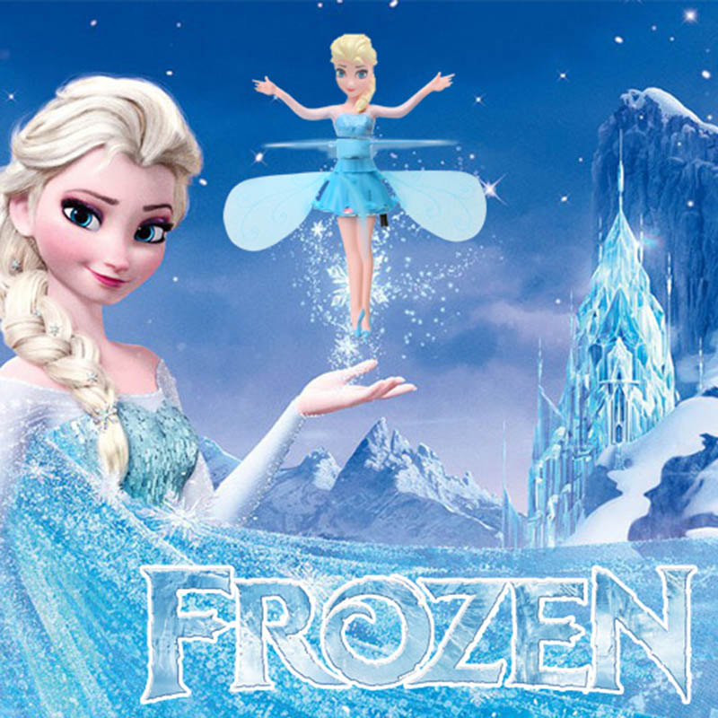 Frozen Princess Elsa Drone RC Helicopter Aircraft Flying Ball Flying Toys Ball Shinning LED Lighting Fly Helicopter Kids Toys