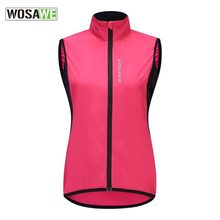 WOSAWE Women's Cycling Vest Windproof Polyester Breathable Bike Bicycle Vest with Reflective Logo Sleeveless Sports Running Vest