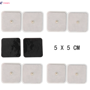Image 1 - Бесплатная доставка, высокое качество, 50 шт. (25 пар), 5 см * 5 см, проводящие электродные прокладки, десятки/электроды, EMS, используются с TENS/EMS машиной