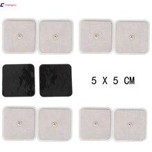 Gratis Verzending Hoge Kwaliteit 50 stuks (25 Pairs) 5cm * 5cm Geleidende elektroden TENS/EMS Elektroden gebruik met TENS/EMS machine