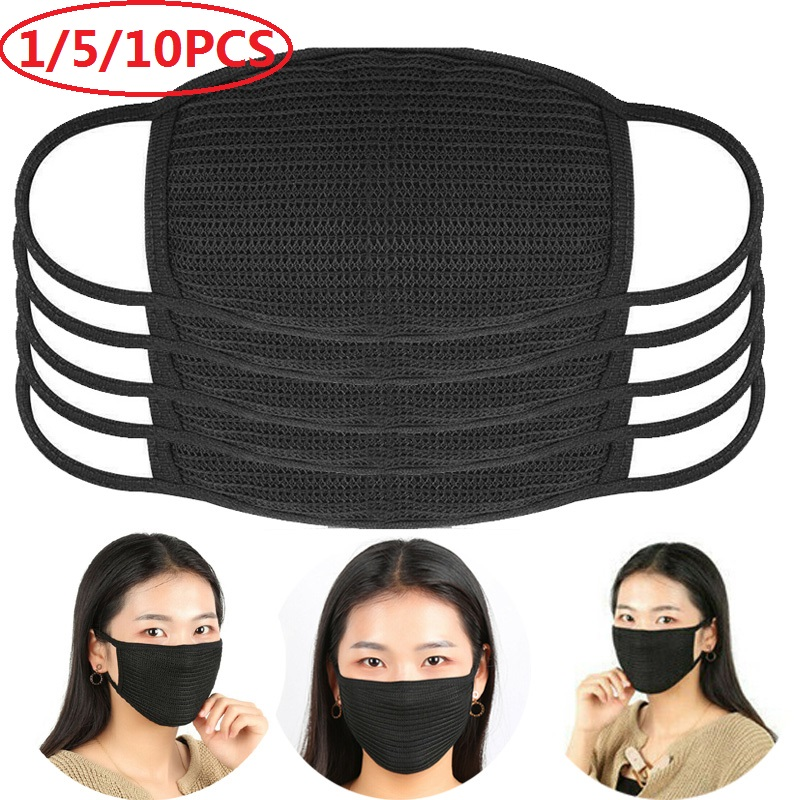1/5/10 PCS Face Mask Reusable Filtration Anti Dust Face Mouth Mask Respirator Earloop Unisex Mask Health Washable Dropshipping