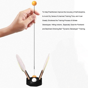 ELOS-Table Tennis Trainer Equipment Rebound Robot Tennis Rebound Trainer Fixed Shaft Rapid For Ping Pong Ball Training