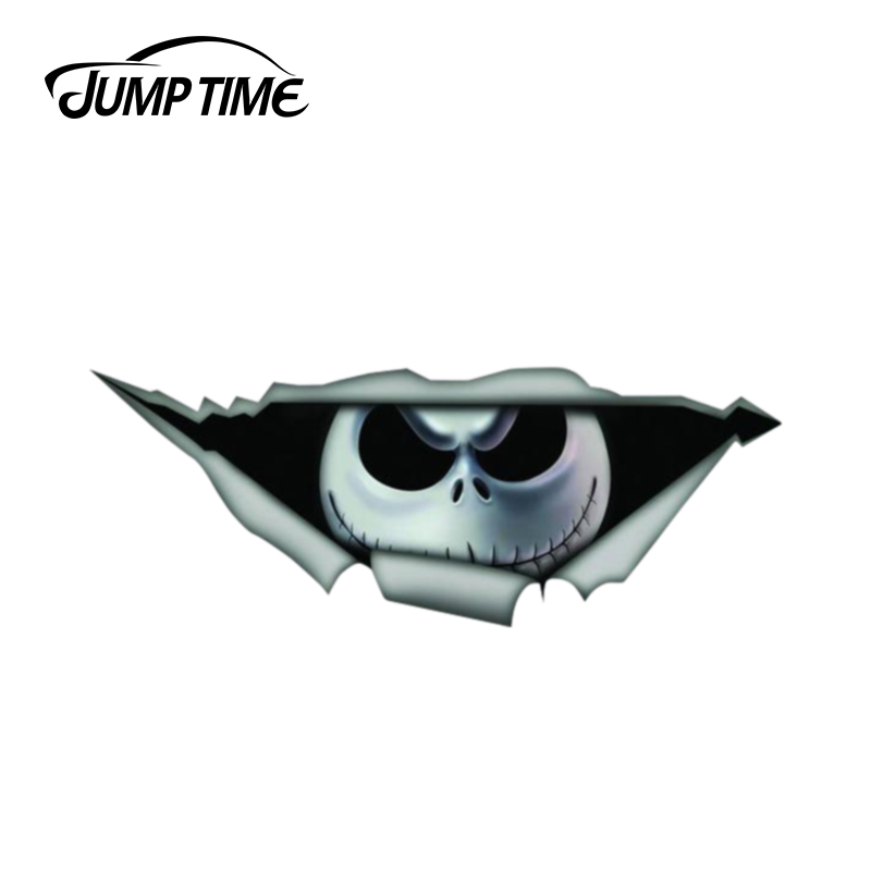 Jump Time 13cm X 4.8cm Nightmare Before Christmas Sticker 3D Pet Graphic Vinyl Decal Car Window Laptop Car Stickers