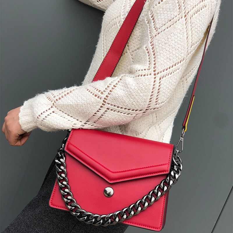 Bag Women's 2019 New Style Fashion WOMEN'S Leather Bags Summer Women's Genuine Leather Square Sling Bag Guangzhou Women's Small
