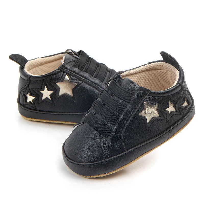 ทารกแรกเกิดเด็กวัยหัดเดินรองเท้าเด็กทารกผ้าฝ้ายนุ่ม Star พิมพ์เด็กสาวสบายๆรองเท้าผ้าใบรองเท้า Boys Girls Non-SLIP First walkers