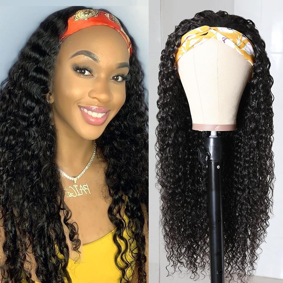 Beaudiva Curly Hair Headband Wig  Easy Half Wig  Kinky Curly Hair Headband Wig Natural Hair Full Machine Wig 2
