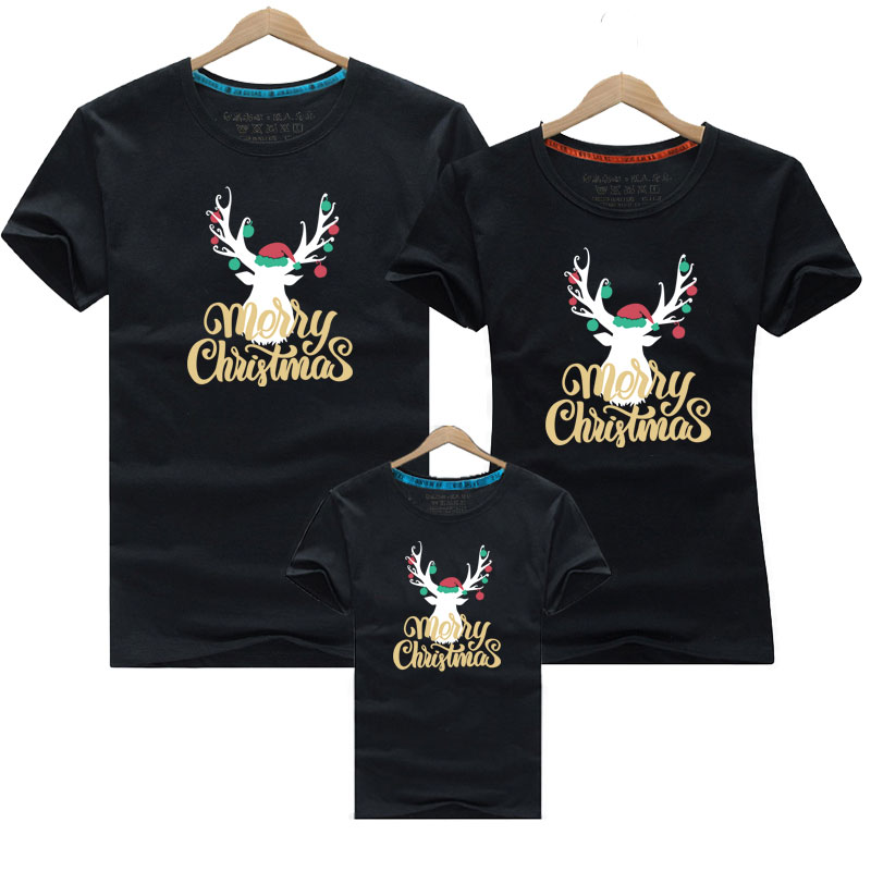 Christmas Family Matching Outfits 2019 Baby Family Outfits Clothing Family Look Father And Son T-shirt For Dad And Son Clothes