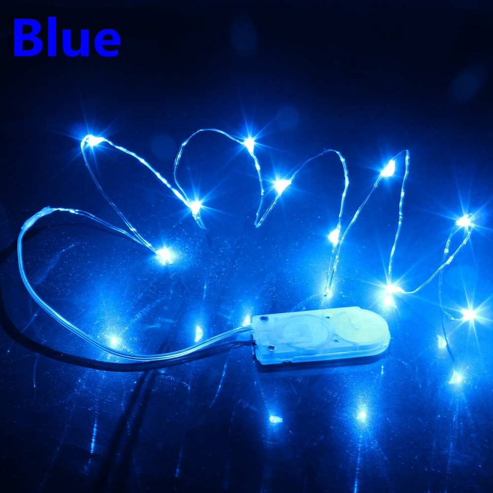 6 Pack Fairy String Lights Battery Operated 1-5M Blue Firefly Lights Starry Lamp For Costume Wedding Easter Christmas Decoration