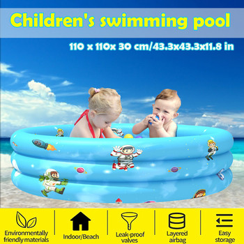 Children Inflatable Swimming Pool Inflatable Bathtub Kids Summer Water Fun Play Kids Paddling Pool Safety Portable Swimming Pool