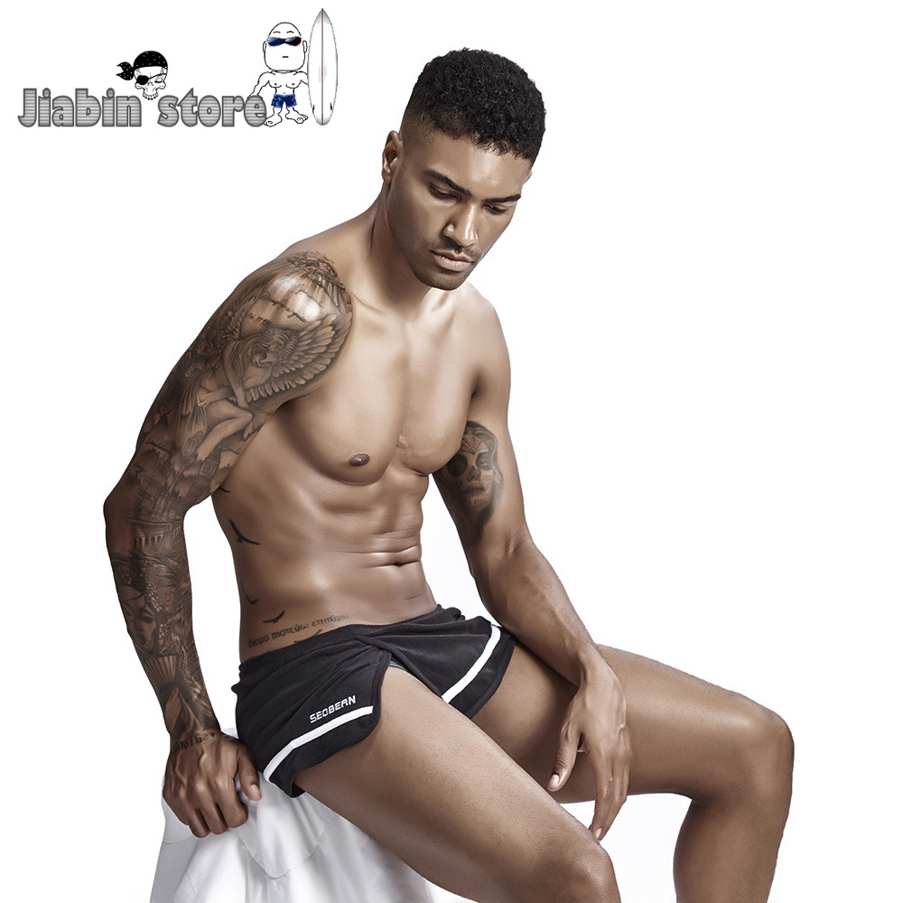 Cotton Mens Side Split Sleep Bottom Sexy Man Homewear Shorts Double Layer Casual Male Sleeping Underpants Wholesale And Retail
