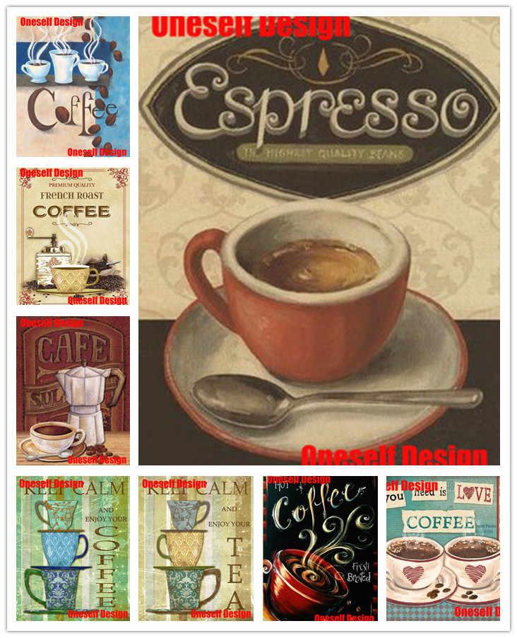 """Great 5d ภาพวาดเพชร """"coffee time"""" diy เย็บปักถักร้อยเพชรเต็มรูปแบบ """"coffee time"""" ภาพวาดเพชรเต็มรูปแบบลูกปัดเย็บปักถักร้อย"""