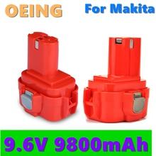 2021 Bonacell 9.6V 9.8Ah Power Tools Battery for MAKITA 9120 9122 9133 9134 9135 9135A 6260D L10 193977-7 638344-4-2 9120 9122