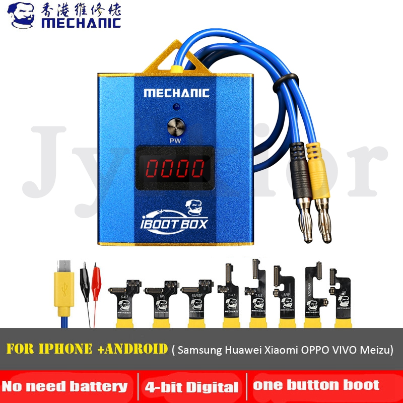 MECHANIC IBoot Box DC Power Supply Test Cable With ON/OFF Switch For IPhone Samsung Huawei Xiaomi Motherboard Repair Boot Line