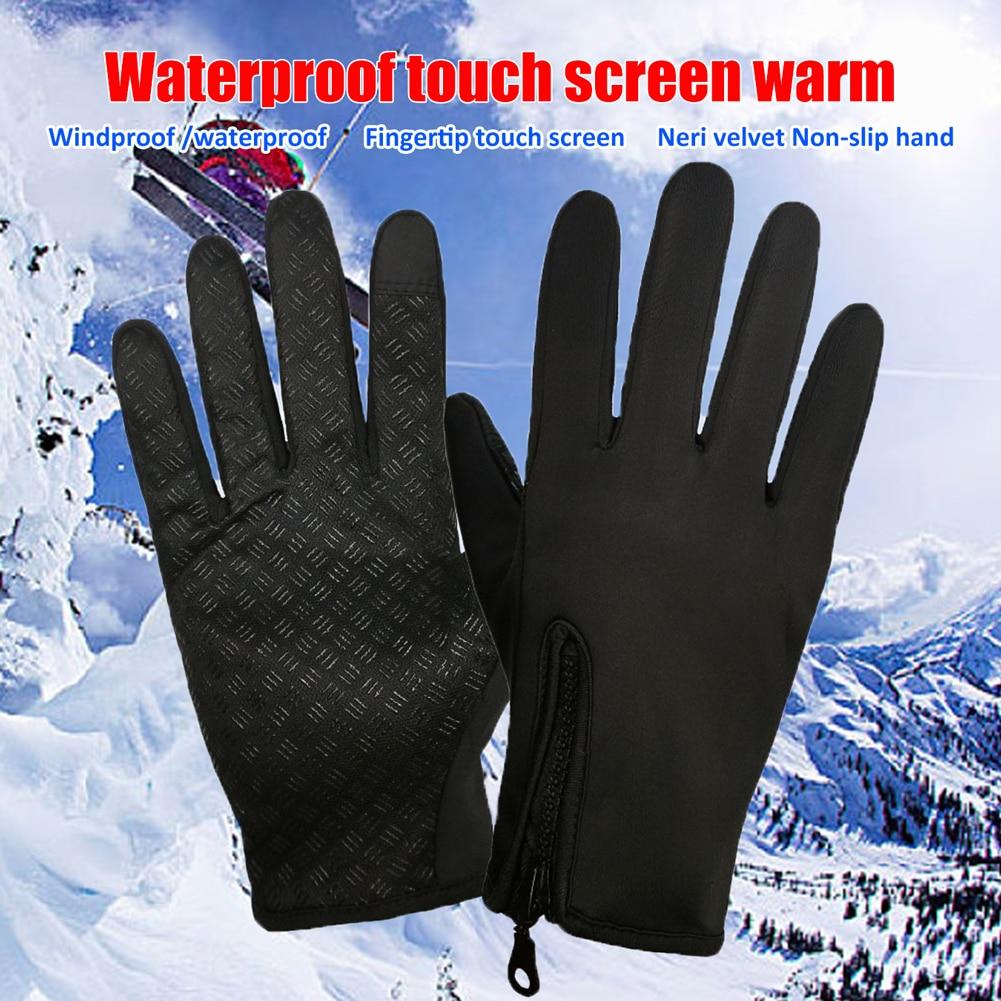 Winter Warm Touch Screen Windproof Waterproof Outdoor Sport Driving Gloves US